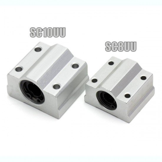 SC8UU Lineal bearing with aluminum bracket