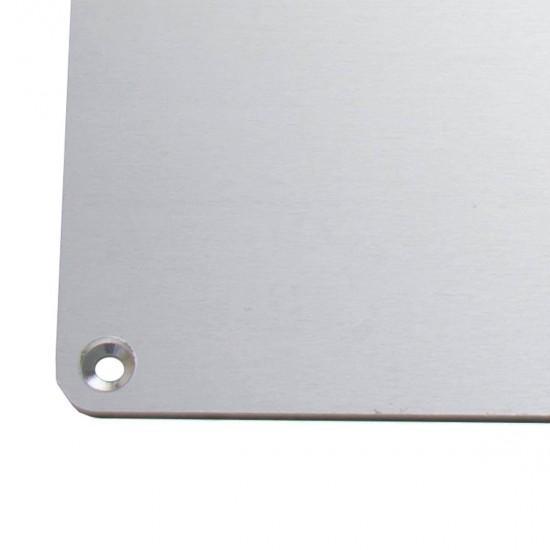 MK3 ALU Cama Caliente 220x220 12v / 24v - Con orificios avellanados para cabeza del tornillo