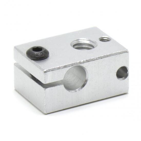 Heating block v6 for 3mm PT100 thermistor - M6 Thread - v5 and v6 compatible