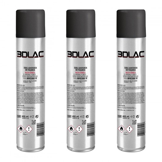 3DLAC - Espray para fijación en cama caliente - 400ml