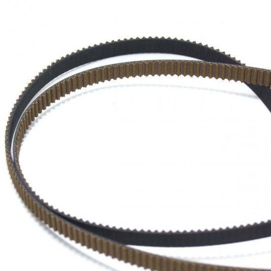 Correa dentada GT2 - Recubierta antidesgaste y reforzada con fibra de vídrio - 6mm - 1m