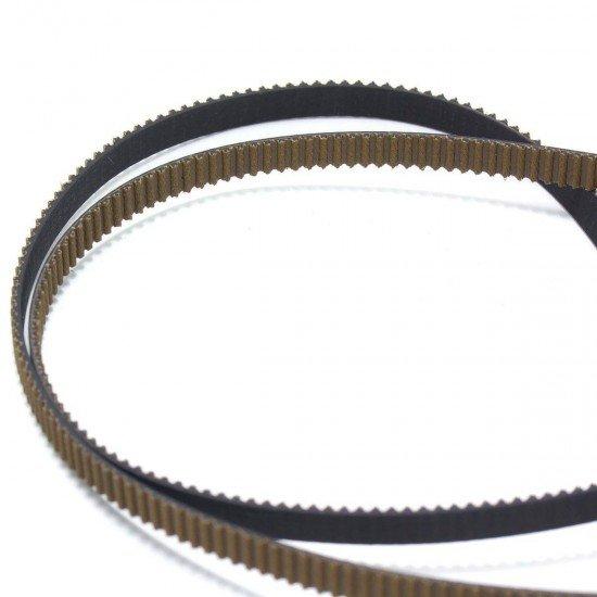 Correa dentada GT2 - Recubierta antidesgaste y reforzada con fibra de vidrio - 6mm - 1m