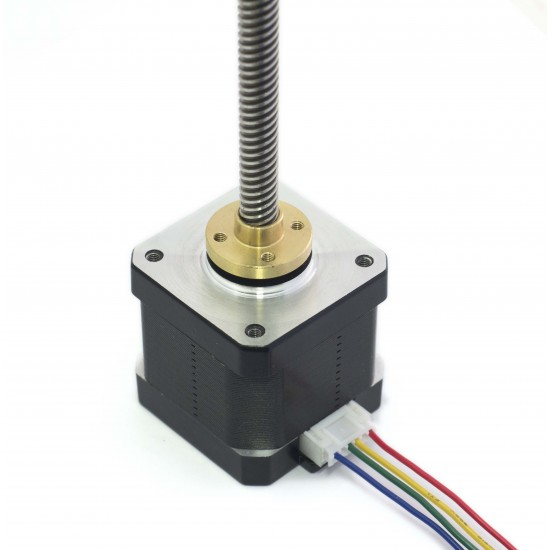 Nema17 - 17HS4401s - Tr8x8-350MM - Stepper Motor with trapezoidal spindle