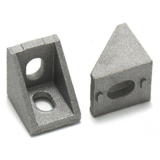 Square connector for aluminum profiles 2020