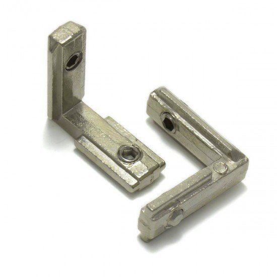 Inner L shaped connector  for aluminum profiles 2020