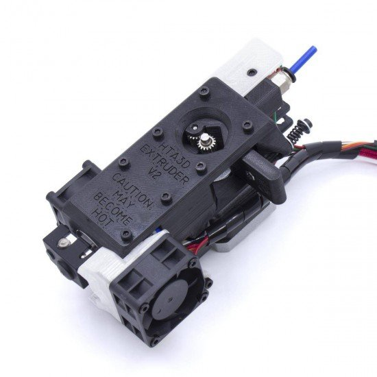HTA3D V2 Extruder - Optimized for flexible filaments - Dual pulleys - Automatic leveling with 3DTouch