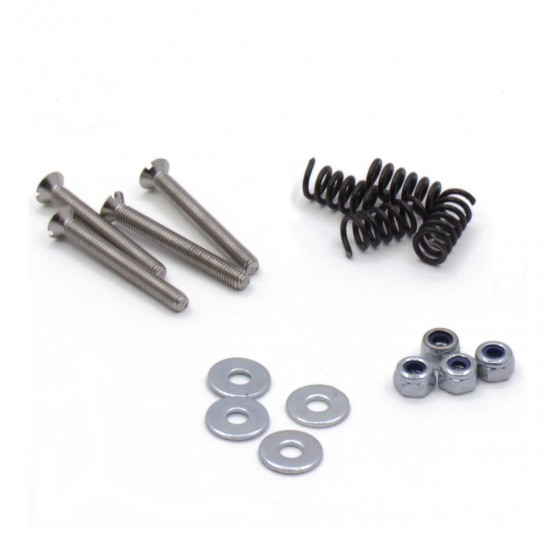 Nuts and bolts kit for heated bed assembly for surface with countersunk holes
