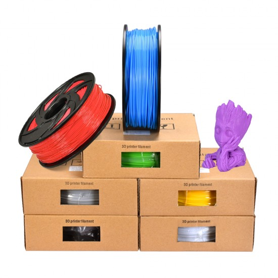 bobina de 1/kg Amarillo transl/úcido 1,75/mm Basics Filamento de PLA para impresora 3D