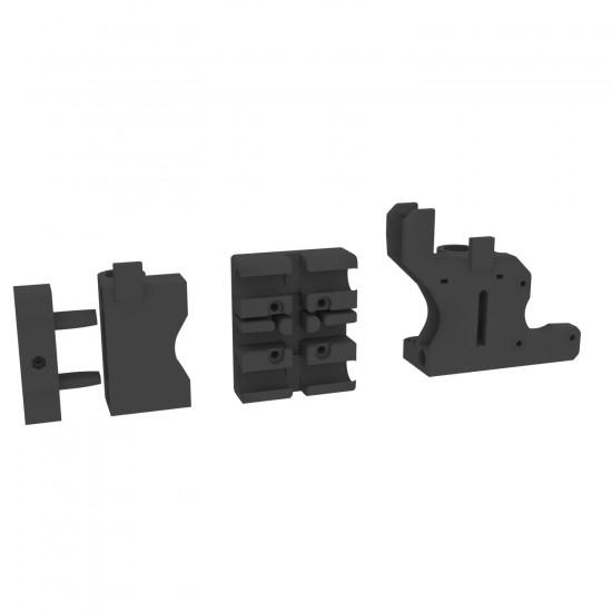 Piezas impresas del Eje X de la impresora 3DSteel