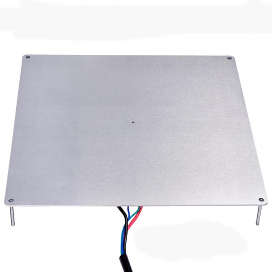 MK3 Ultrabase de Aluminio 220x220mm 150W 12V Alta Potencia con termistor y cables con cristal con recubrimiento microporoso