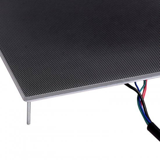 MK3 Ultrabase Aluminum 220x220cm 150W 12V High Power with thermistor and cables with glass with microporous coating