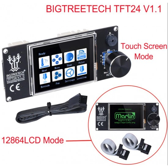 TFT24 V1.1 Touch screen with dual function compatible with graphic LCD 12864 and touch menu