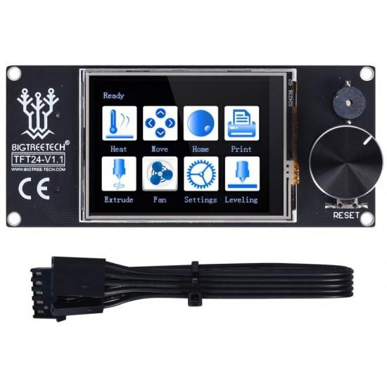 TFT24 V1.1 Pantalla Táctil con doble función compatible con LCD gráfico 12864 y menú táctil