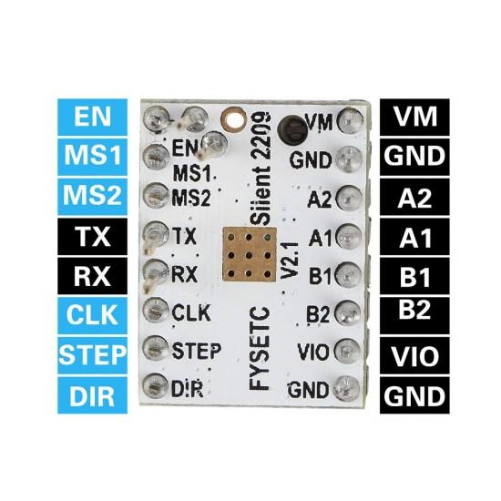 TMC2209 - Controlador para motor paso a paso Silencioso - Driver