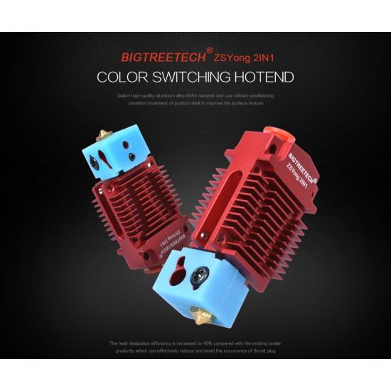 Extrusor Bowden Multicolor 2 entradas 1 salida - 1.75mm