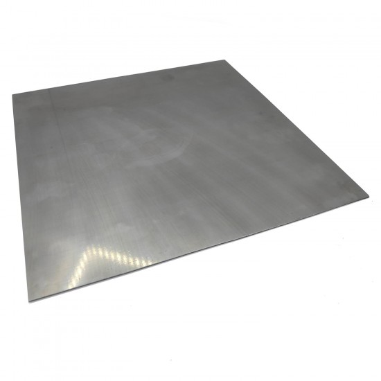 Metallic and Flexible Sheet of hardened steel (spring steel or hardened strip) for magnetic printing base - Thickness 0.5mm