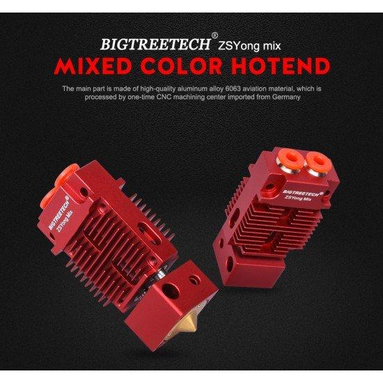 Hotend Bowden Multicolor 2 entradas 1 salida - Mix  - 1.75mm