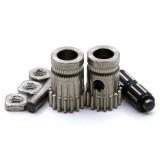Set de poleas de tracción doble de acero endurecido niquelado para extrusor - Estilo Bondtech - Compatible con estrusores tipo Mk2/Mk3