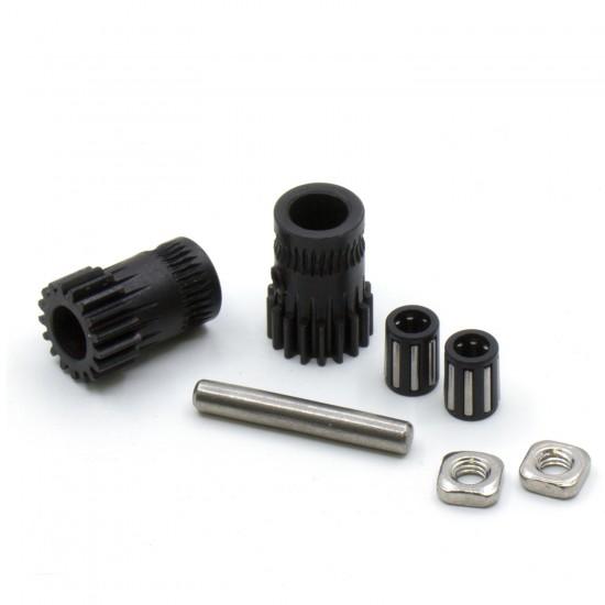 Set de poleas de tracción doble de acero endurecido para extrusor - Estilo Bondtech - Compatible con estrusores tipo Mk2/Mk3