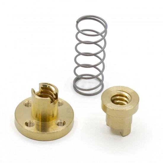 Spring Copper Nut T8x2 for Lead Screw Dia 8MM Thread 8mm