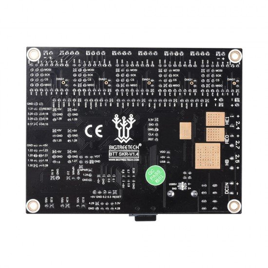 SKR V 1.4 - 32-bit board with LPC1768 processor - Marlin 2 compatible - STEP/DIR SPI or UART - 12v or 24v