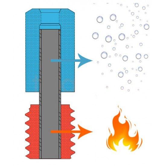 Garganta v6 Bimetal Heatbreak de alta calidad - para hotend Dual Rosca M6 Liso diámetro 7mm - Compatible con v6 - All metal