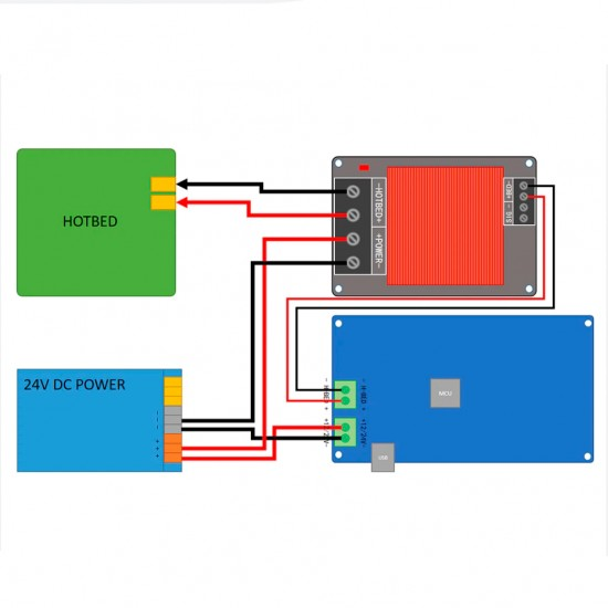 30A Mosfet Module with heatsink and hot bed compatible - Fysetc