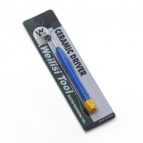 Destornillador cerámico de punta plana - uso en componentes electrónicos