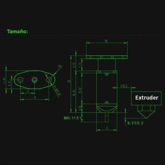 3D touch - Sensor de nivelacion automática para base de impresión - MKS