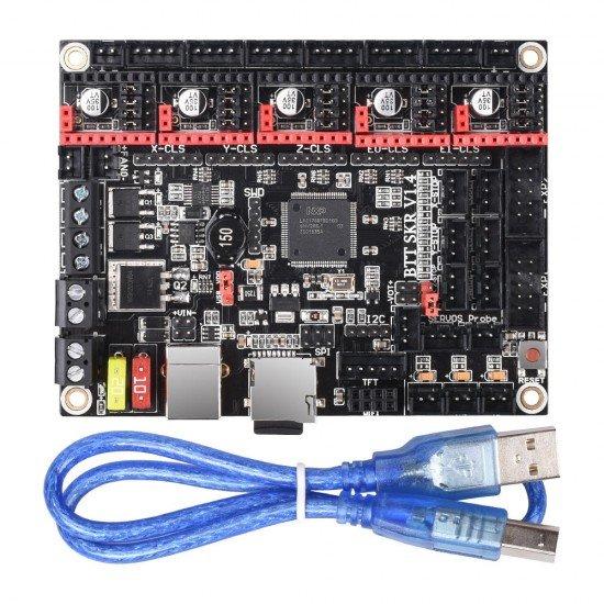 SKR V 1.4 TURBO - 32-bit board with LPC1769 processor - Marlin 2 compatible - STEP/DIR SPI or UART - 12v or 24v
