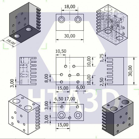 Disipador dual V6 - Estilo Chimera