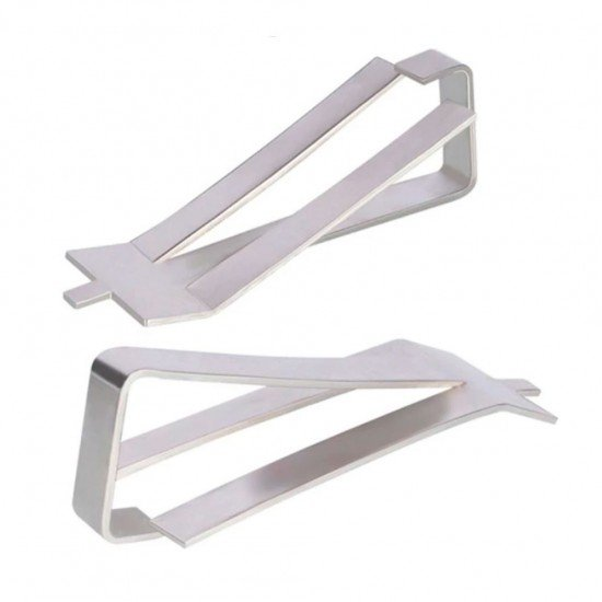 Metal clamp for heated bed glass