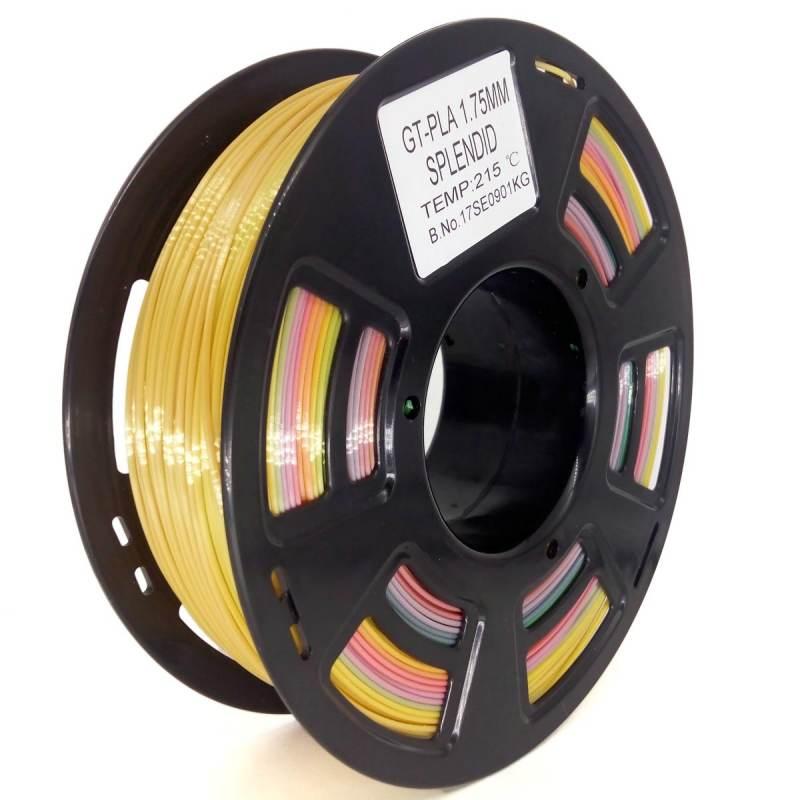 Bobina filamento PLA 3D - GCC - Cambio de color gradual - 1.75mm - 750g