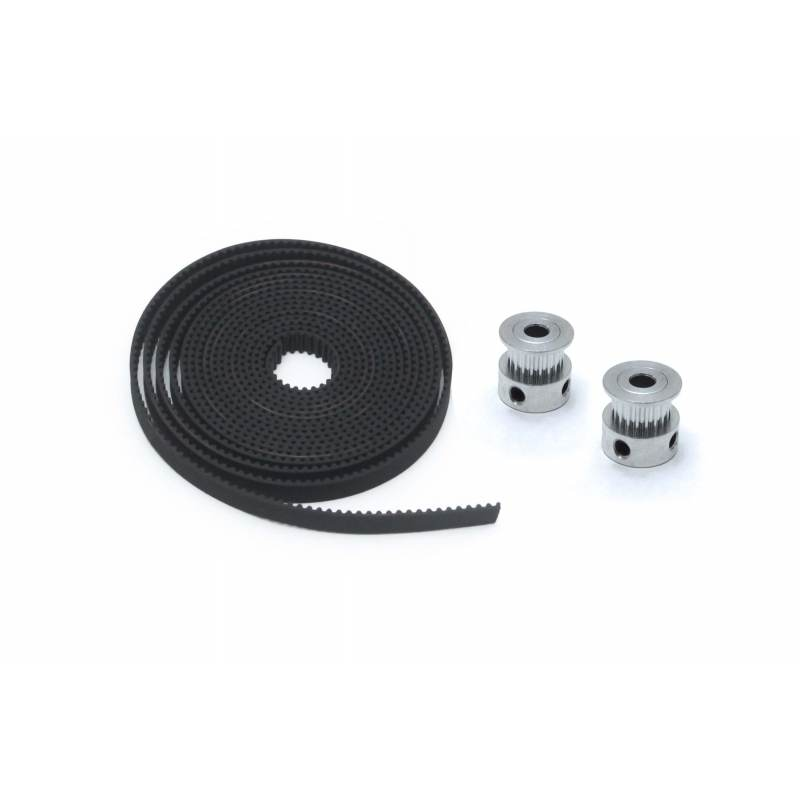 2m Belt GT2 y 2 Pulley GT2 Kit