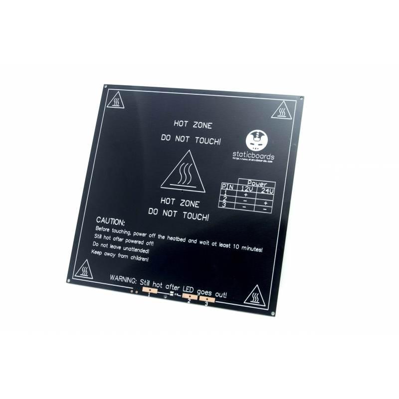 MK2b SB 12v / 24v Cama caliente en Negro - Staticboards