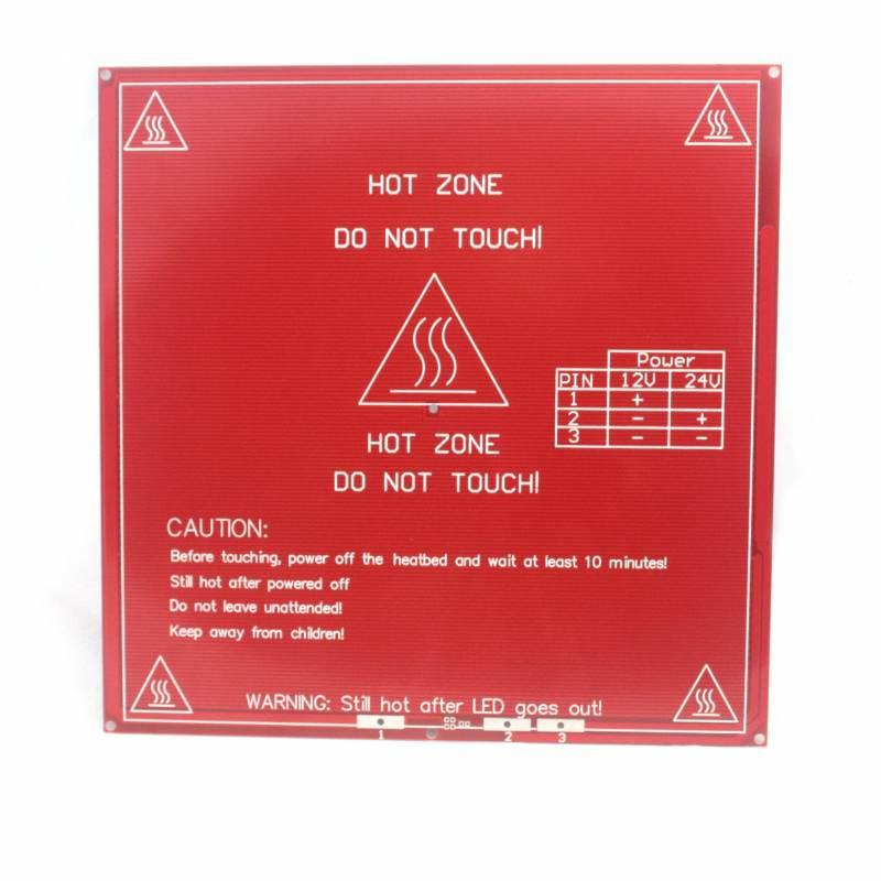 MK2B HeatBed 200x200mm 12v / 24v - Red or black