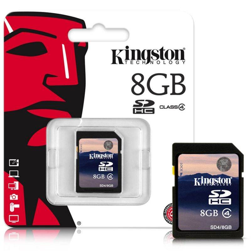 Tarjeta de memoria SD Kingston SDHC Class 4 - 8GB