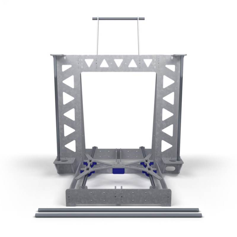 P3Steel Frame with Rods kit - Galvanized Steel Structure with stainless steel rods - Configurable